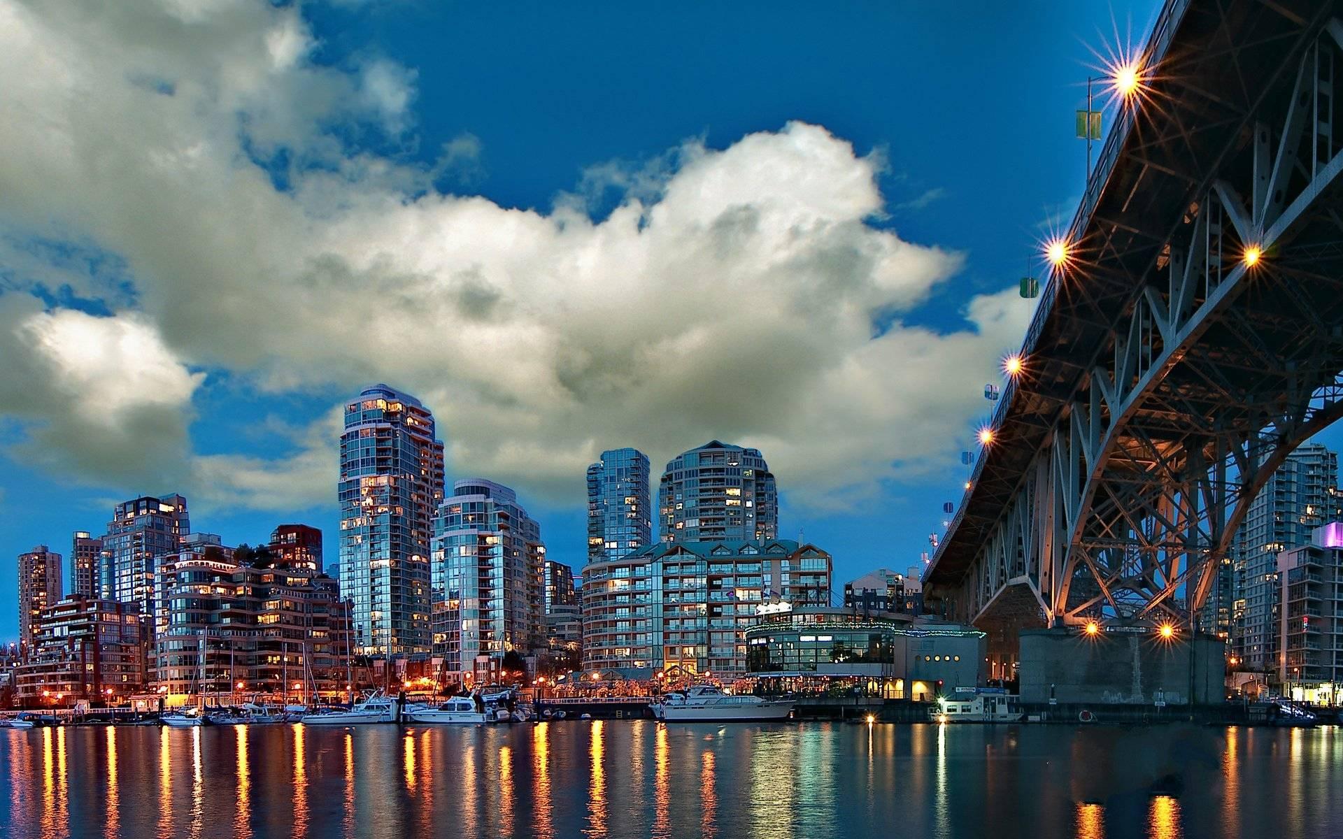 город река страны архитектура огни облака загрузить