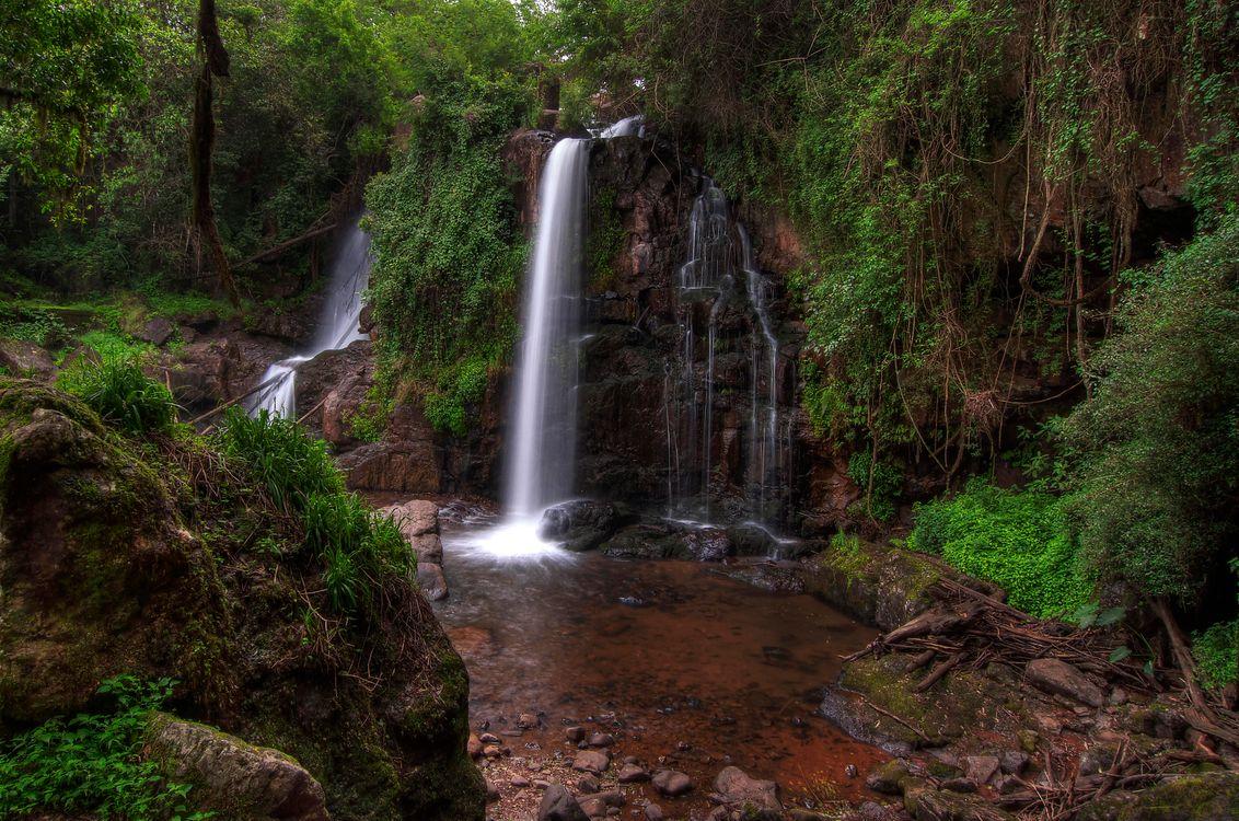Обои Horse Shoe Falls, Mpumalanga, South Africa картинки на телефон