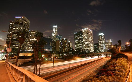 Фото бесплатно ночь, улица, дорога