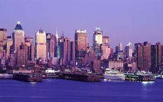 Бесплатные фото море,порт,корабль круизный,дома,небоскребы,высотки,здания