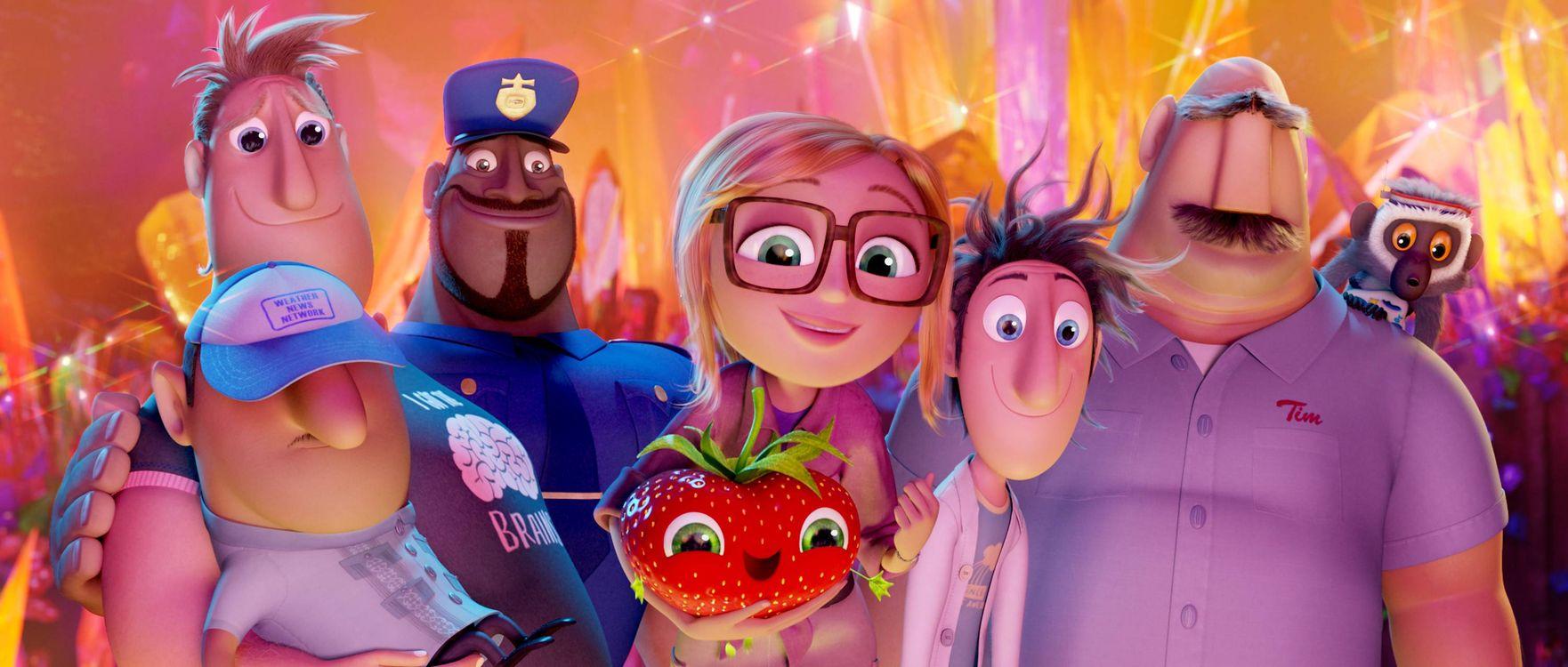 Фото бесплатно Облачно 2 Месть ГМО, Cloudy with a Chance of Meatballs 2, мультфильм, фэнтези, комедия, семейный, мультфильмы - скачать на рабочий стол