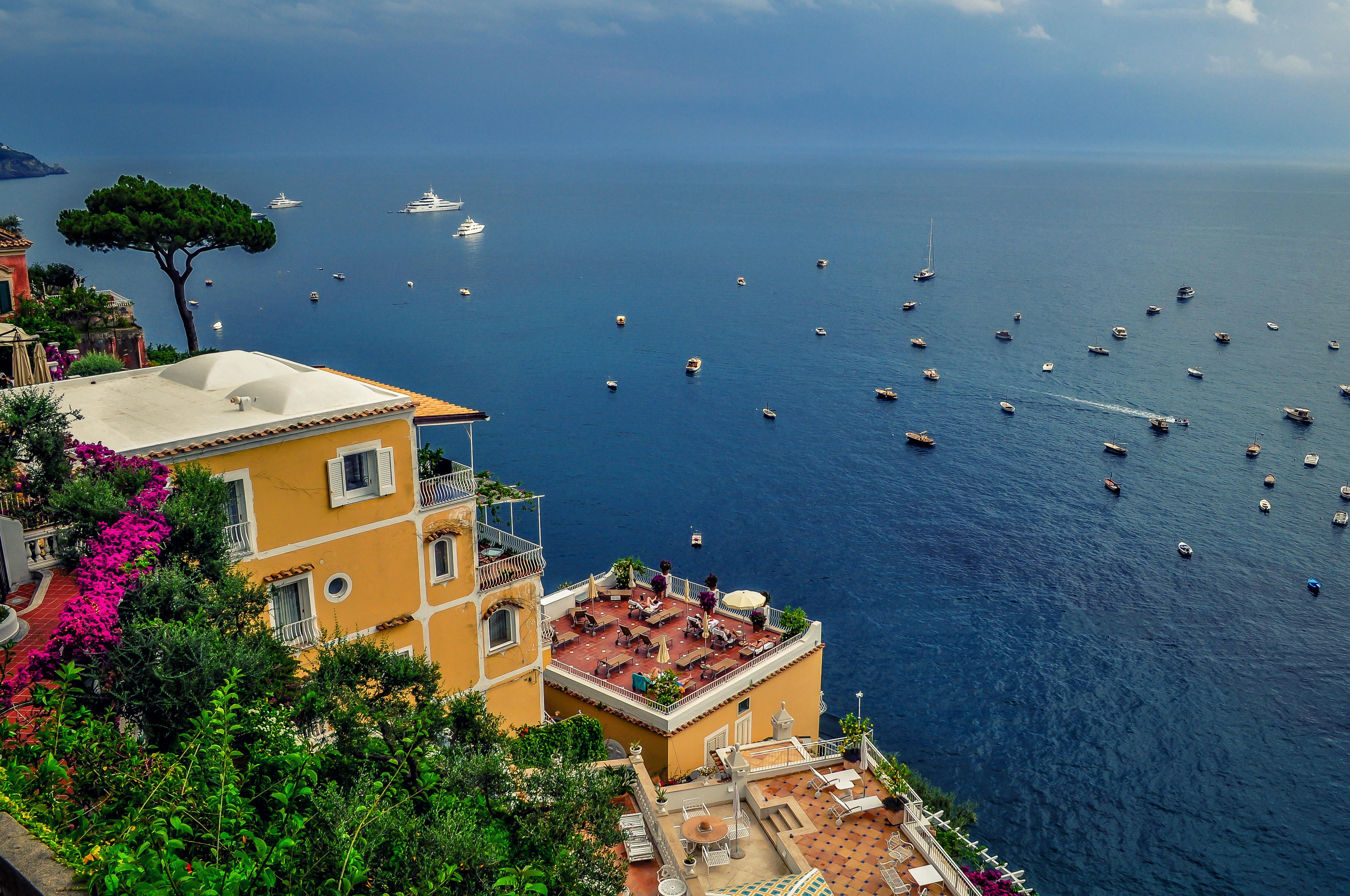 Амальфитанское побережье, море, лодки
