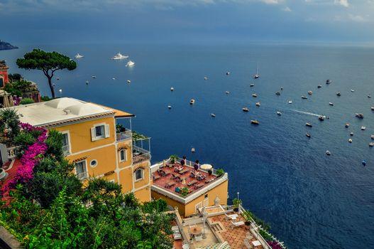 Фото бесплатно Амальфитанское побережье, море, лодки