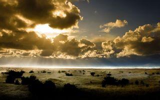 Бесплатные фото долина,кустарник,горизонт,небо,облака,солнце