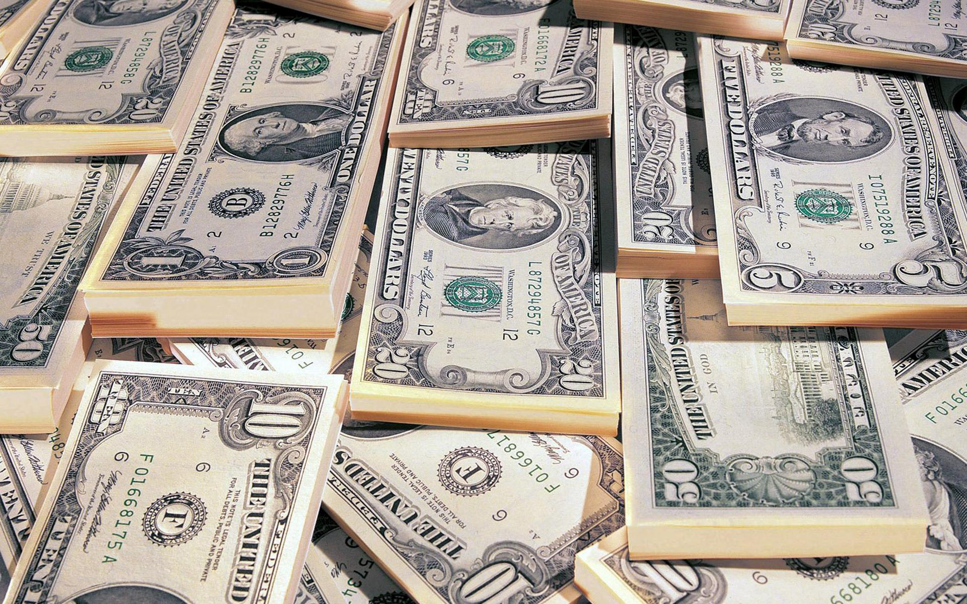 Обои доллары, купюры, банкноты, пачки