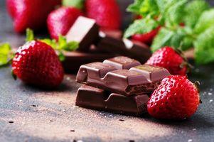 Бесплатные фото еда, сладкое, шоколад, клубника, мята