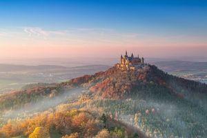 Бесплатные фото Гогенцоллернов Замок, Германия, закат, пейзаж