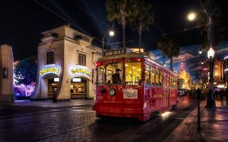 Photo free night tram, street, home