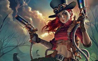 Бесплатные фото Санджай чарльтон,стимпанк,воин-дракон,оружие,арт