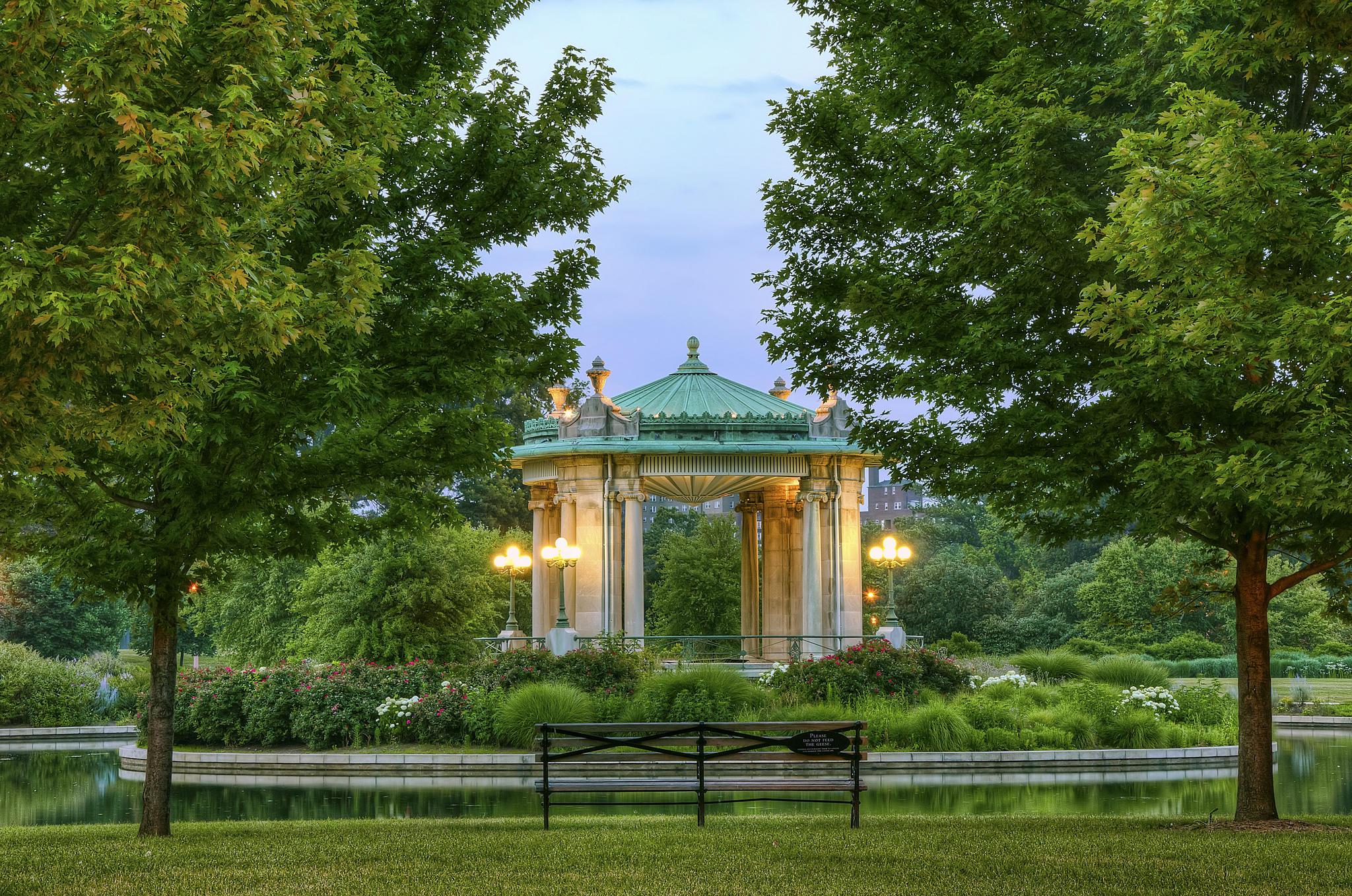 обои Форест-Парк, Сент-Луис, лесопарк, водоём картинки фото