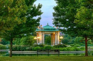 Фото бесплатно пейзаж, пруд, Сент-Луис
