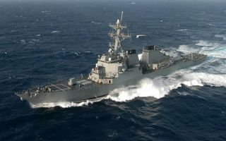 Заставки корабль,военый,палуба,антенны,море,волны