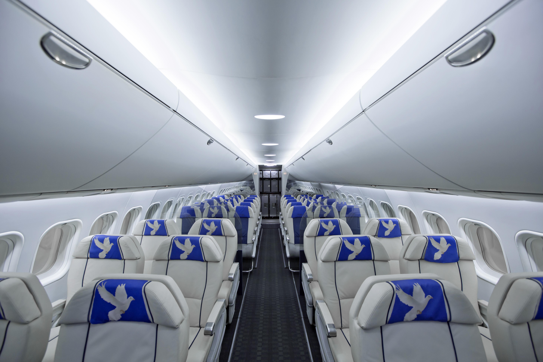 Обои пассажирский, салон, самолет, МС-21