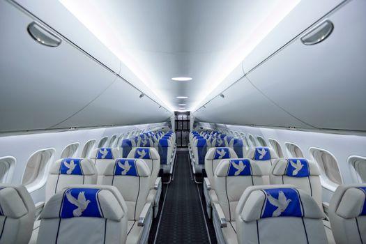 Photo free passenger, salon, airplane