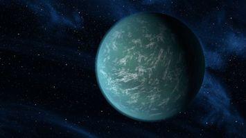 Фото бесплатно планета, звезды, свечение