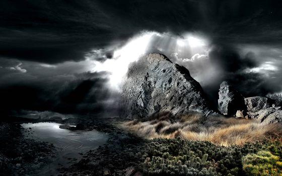 Photo free rock, speeches, black clouds