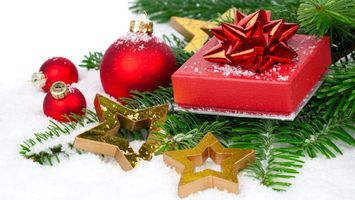 Фото бесплатно новогодние обои, декорации, шарики
