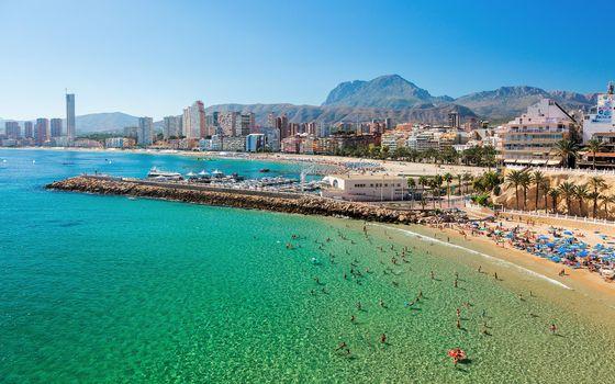Photo free Benidorm town, Alicante, Spain
