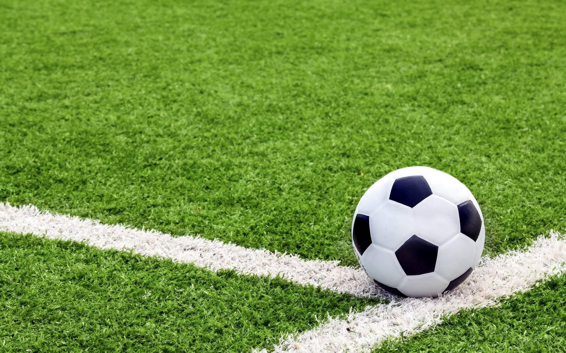 Обои футбольное поле, газон, трава, разметка