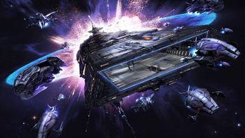 Бесплатные фото космос,космические корабли,полет,звезды,взрыв