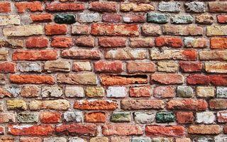 Обои стена, кирпичи, цветные, кладка, поверхность, заставка