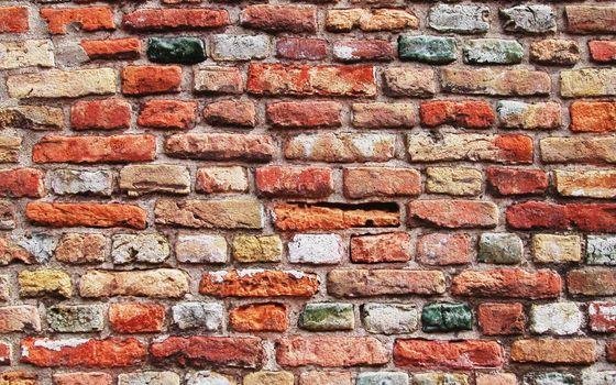 Заставки стена, кирпичи, цветные