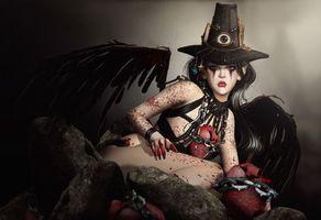 Фото бесплатно девушка, ангел, фантастика