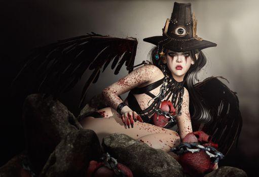 Бесплатные фото девушка,ангел,фантастика