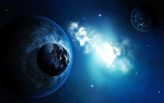 Бесплатные фото планеты,луны,спутники,звезды