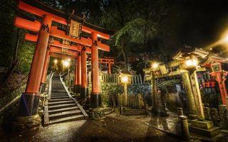 Бесплатные фото китай,япония,аниме,мультфильмы,храм,аякаши