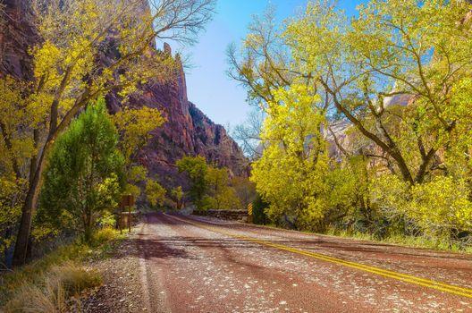 Заставки Zion National Park, осень, горы