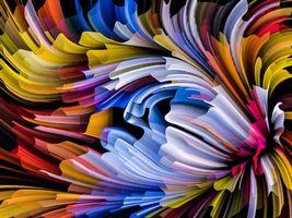 Заставки абстракция, волнистые линии, текстура, фон, фоны для дизайна, дизайнерский фон, яркий фон