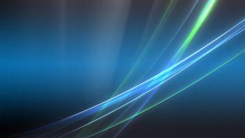 Бесплатные фото заставка,линии,свечение,фон синий