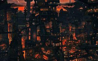 Photo free city of the future, houses, bridges
