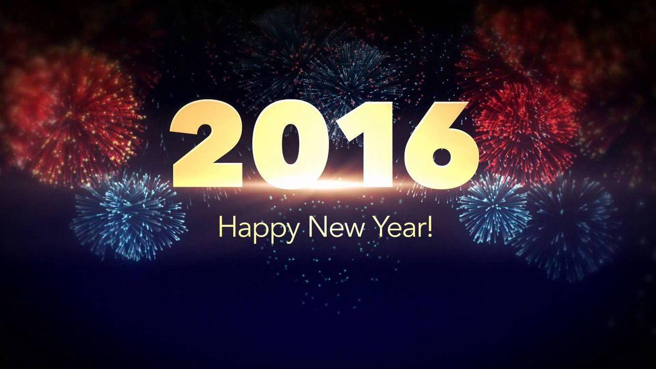 Фото бесплатно новый год 2016, фейерверк, год - на рабочий стол