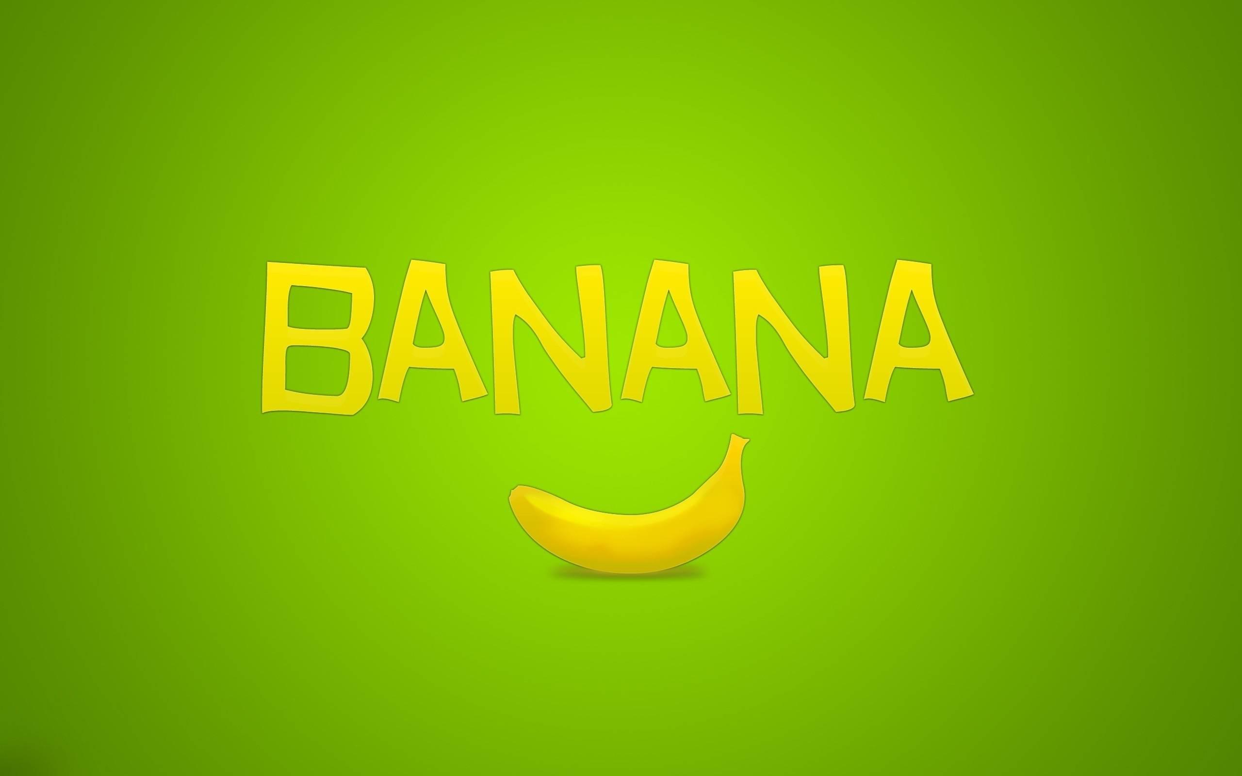 Обои рисунок, банан, надпись, banana