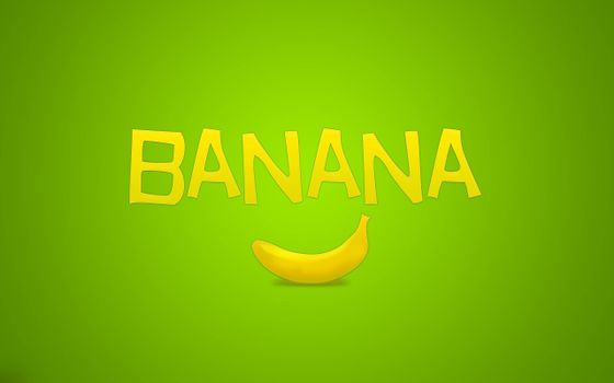 Photo free drawing, banana, inscription