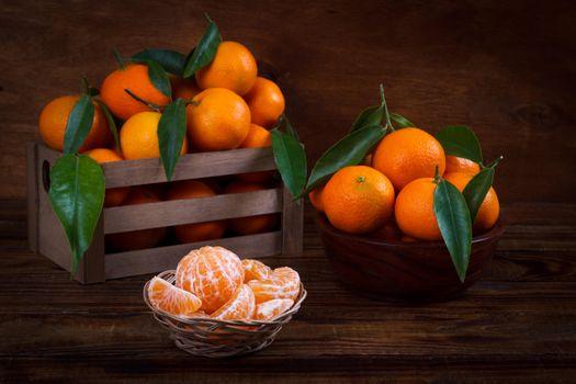 Фото бесплатно цитрусовые, мандарины, фрукты