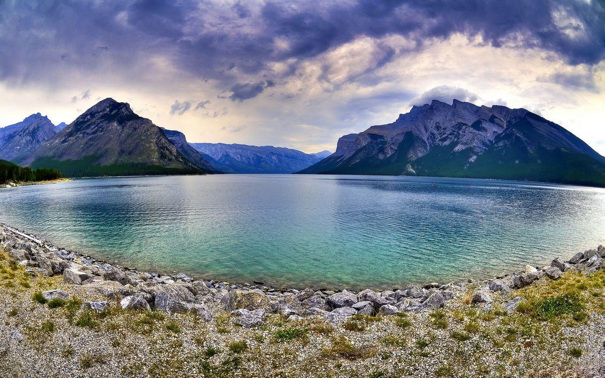 Фото бесплатно озеро, гладь, берег - на рабочий стол