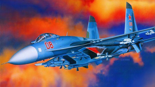 Photo free figure fighter, sky, flight