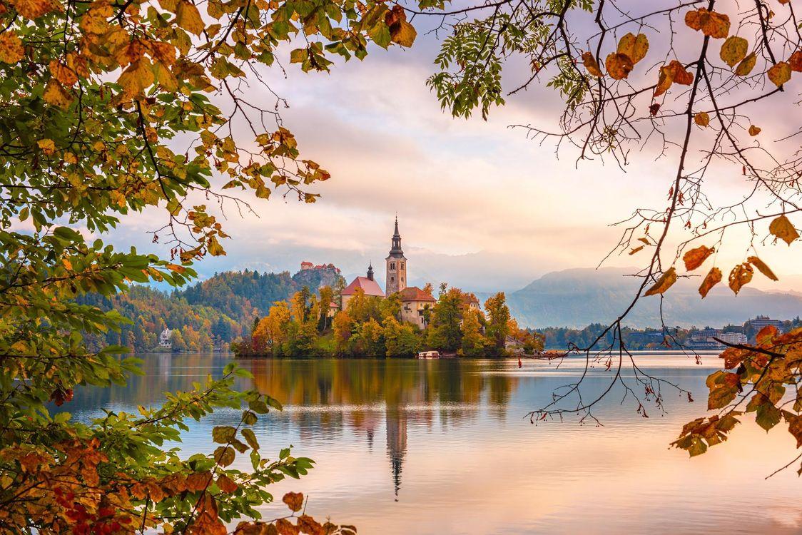 Фото бесплатно Slovenia, Lake Bled, Словения, озеро Блед, пейзажи