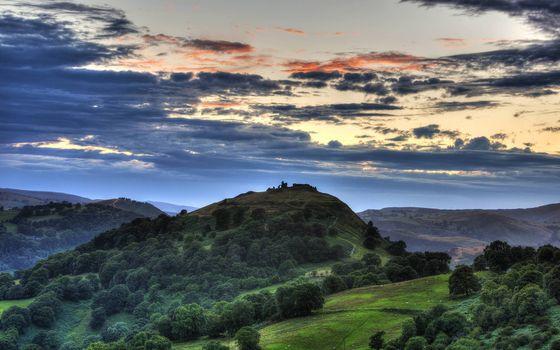 Фото бесплатно горы, деревья, простор