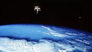 Фото бесплатно планета, невесомость, орбита, станция, мкс, вакуум