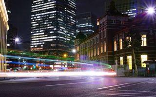 Заставки ночь, улица, дорога