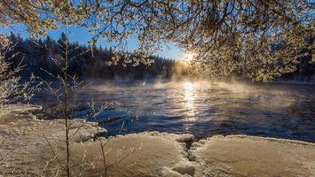 Бесплатные фото Финляндия,зима,снег,сугробы,деревья,закат,пейзаж