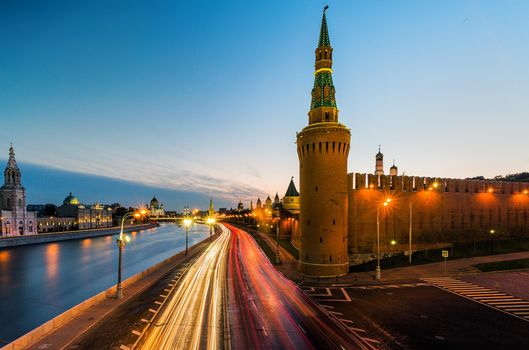 Photo free Moscow river leading past the walls of the Kremlin, Moscow, Russia