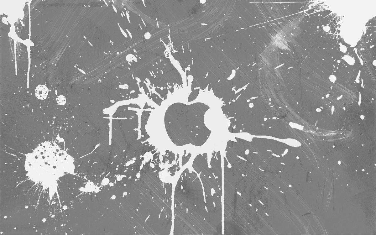 Фото бесплатно значок, эпл, заставка, яблоко, кляксы, трафарет, hi-tech