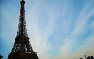 Заставки Париж,эйфелева башня,достопримечательность,конструкция,небо