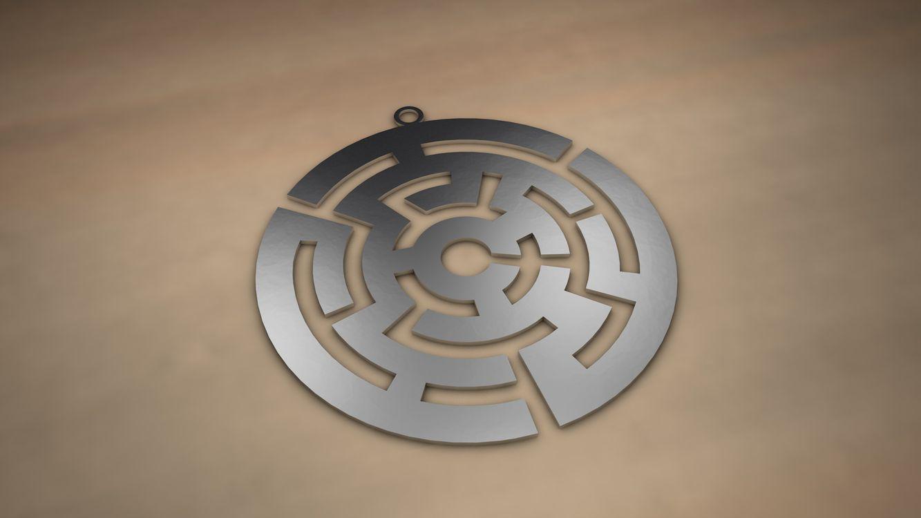 Фото бесплатно арт, моделирование, 3D графика, медальон, 3d графика