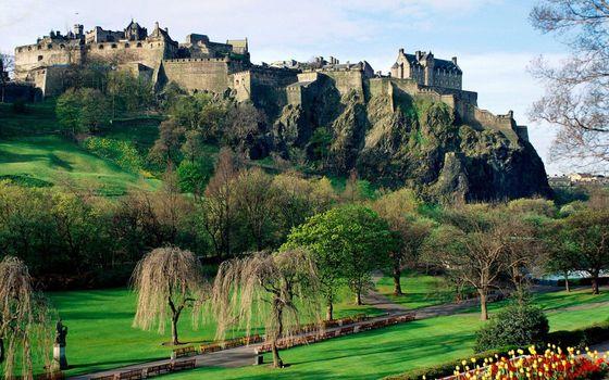Фото бесплатно гора, скалы, замок